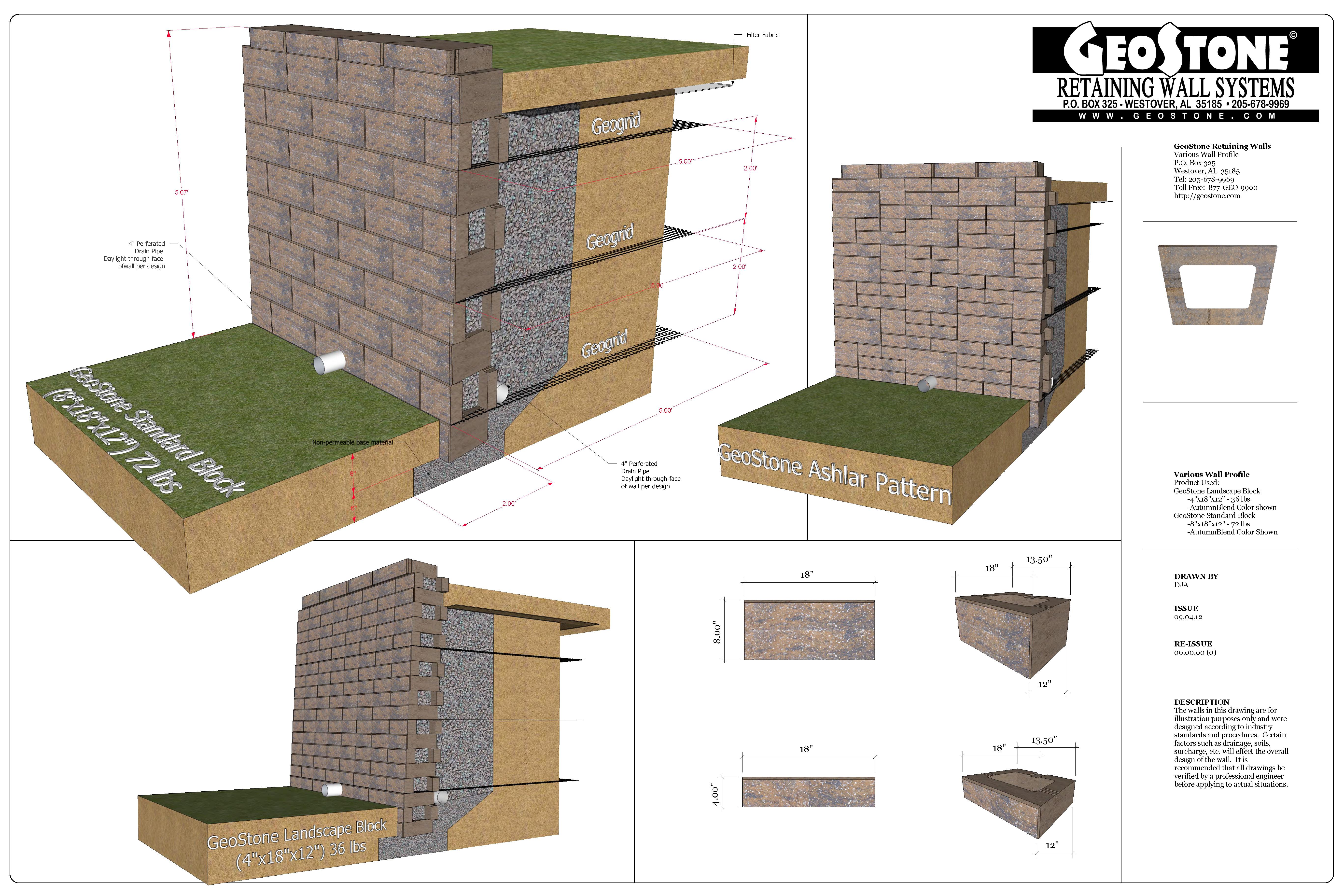 Technical Geostone Modular Retaining Walls