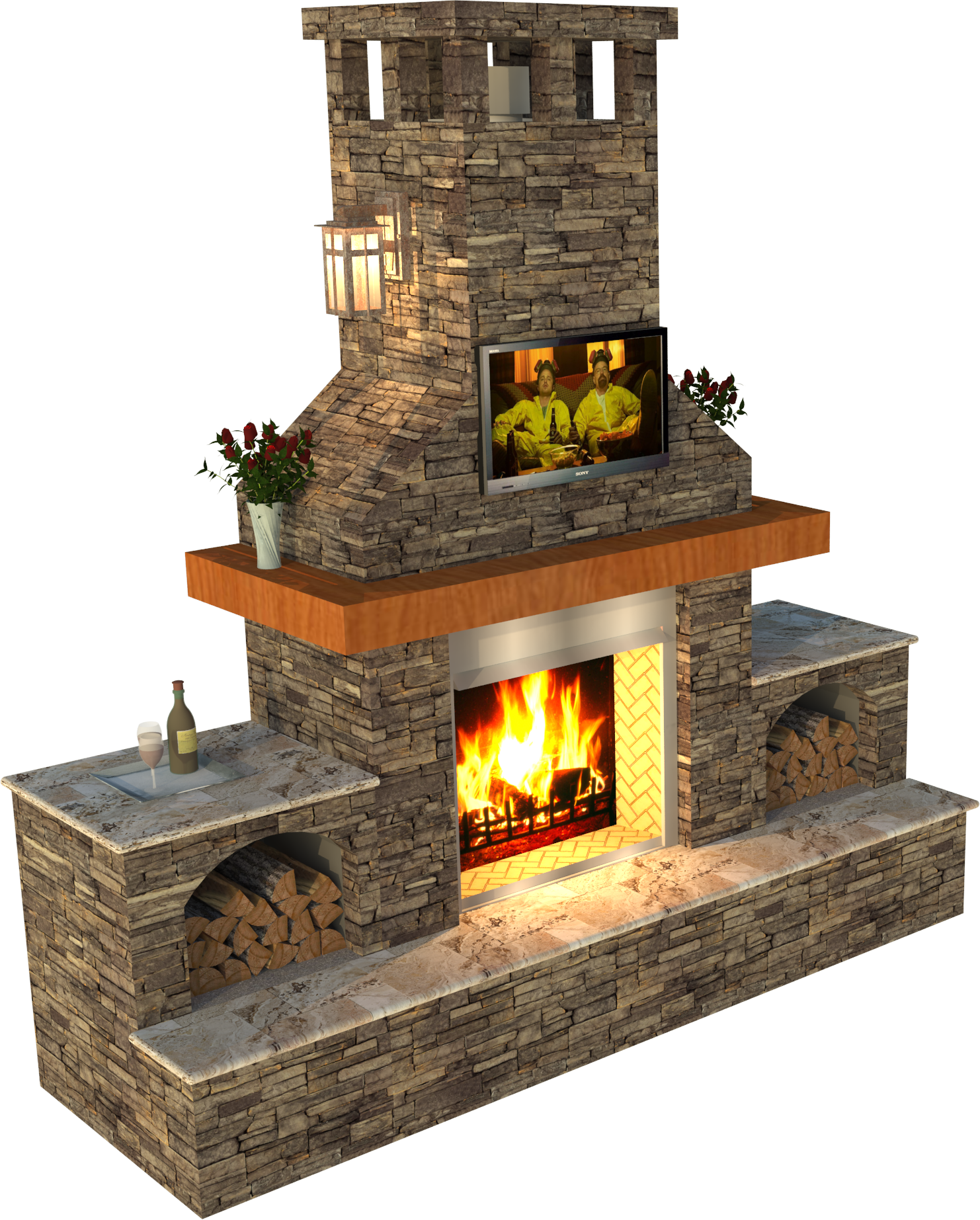 Outdoor Living Geostone Modular Retaining Walls